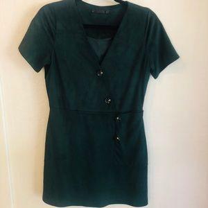 Hunter Green Midi Dress